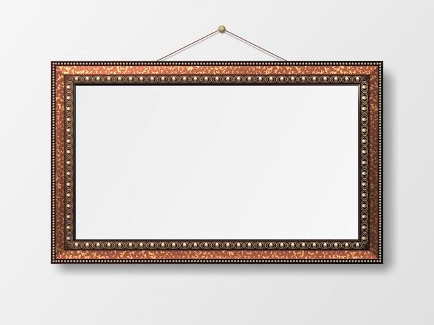 Decoratief vintage fotolijstje. Premium Vector