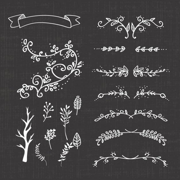 Decoratieve afscheiders collectie Gratis Vector
