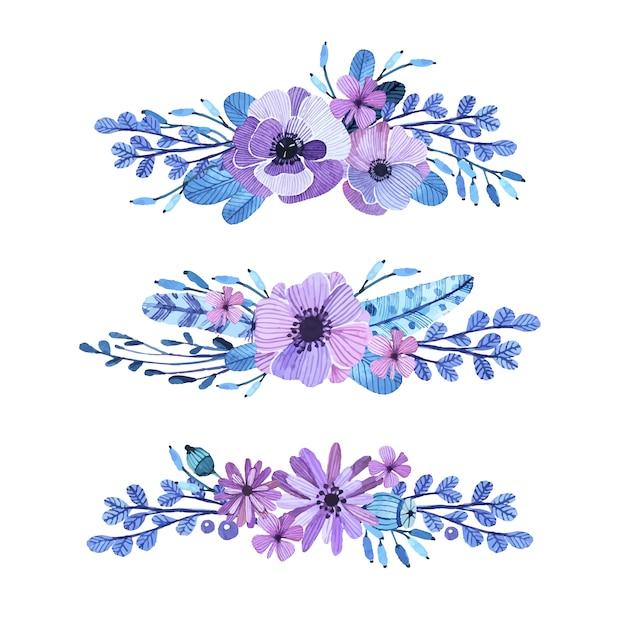 Decoratieve Bloemen Elementen Vector Gratis Download