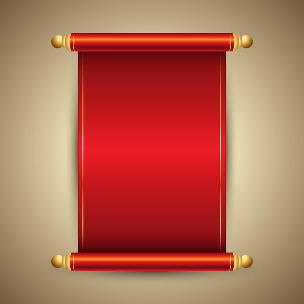 Decoratieve chinese stijl scroll ontwerp Gratis Vector