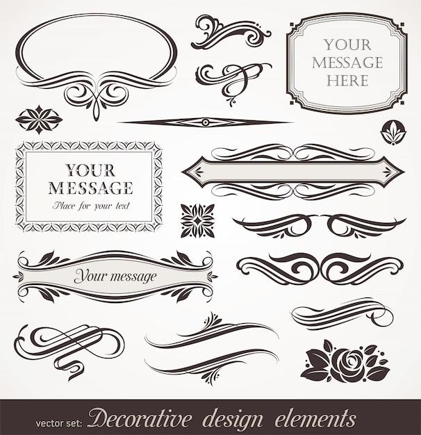 Decoratieve designelementen & pagina decor Premium Vector