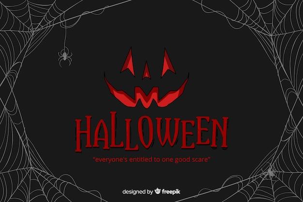 Decoratieve halloween-vlakke stijl als achtergrond Gratis Vector