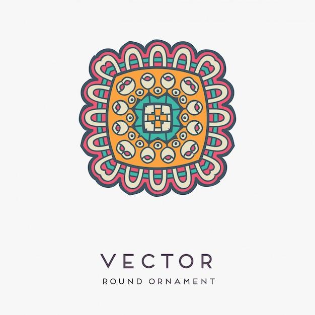 Decoratieve hand getekend mandala illustratie Gratis Vector