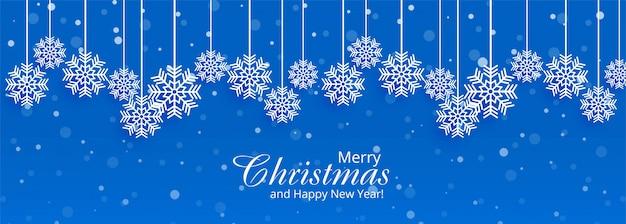 Decoratieve kerstmissneeuwvlokken Gratis Vector