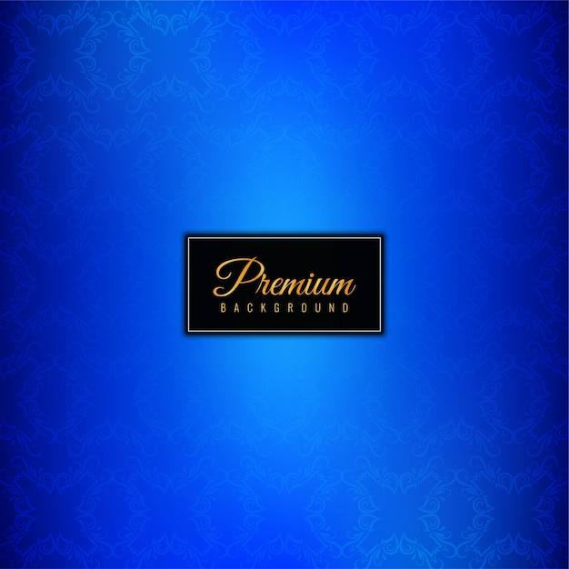 Decoratieve luxe premium blauwe achtergrond Gratis Vector