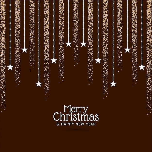 Decoratieve merry christmas groet achtergrond Gratis Vector