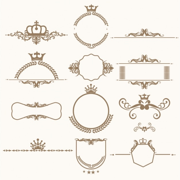 Decoratieve ornamenten collectie Gratis Vector
