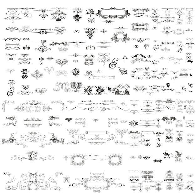 Decoratieve ornamenten collectie Premium Vector