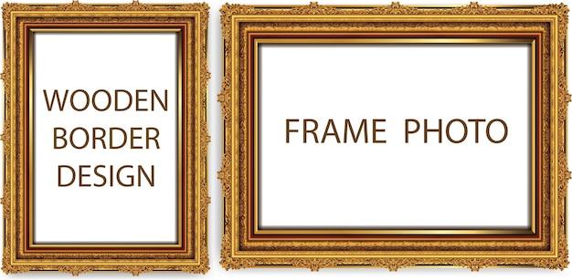 Populair Decoratieve vintage kaders en randen instellen   Vector   Premium &LR21