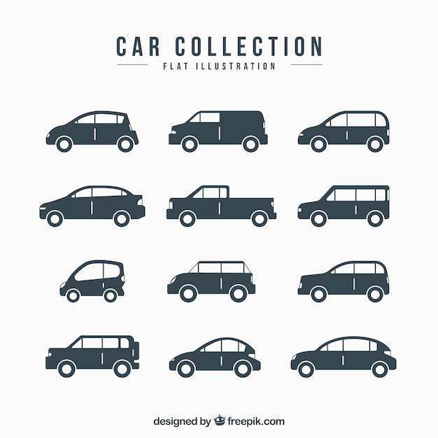 Decoratieve voertuigen met verschillende uitvoeringen Gratis Vector