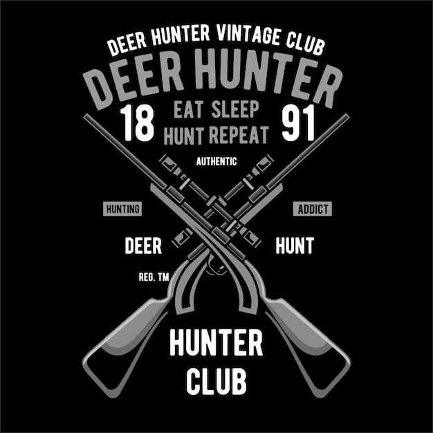 Deer hunter-achtergrond Premium Vector