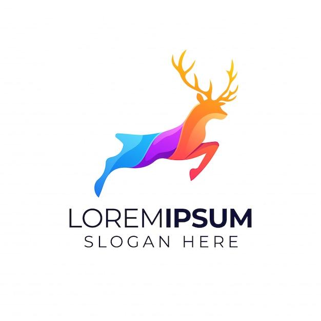 Deer-logo Premium Vector