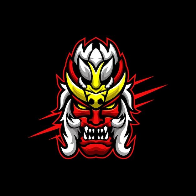 Demon logo Premium Vector