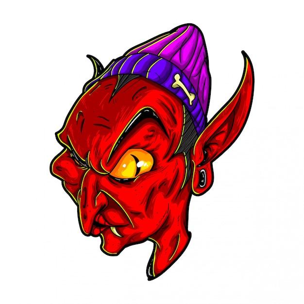 Demon thug illustratie Premium Vector