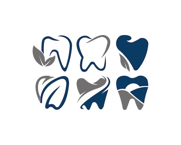 Dent logo ontwerp vector Premium Vector