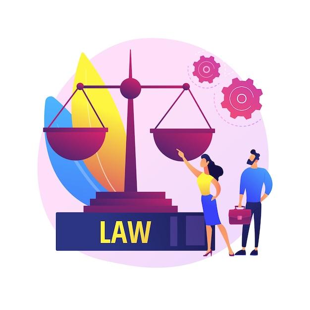 Deskundige juridische dienstverlening. juridisch onderwijs, gerechtigheid en gelijkheid, professionele begeleiding van rechtszaken. advocaat, juridisch adviseur advies over betwiste kwesties Gratis Vector