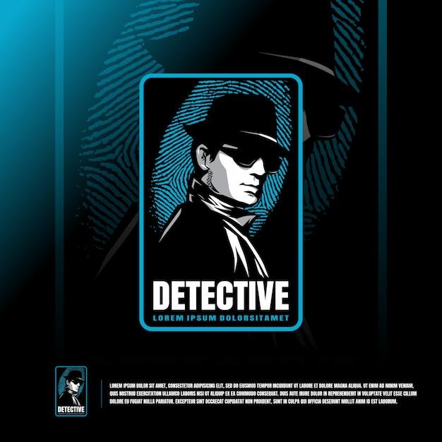 Detective logo sjabloon Premium Vector