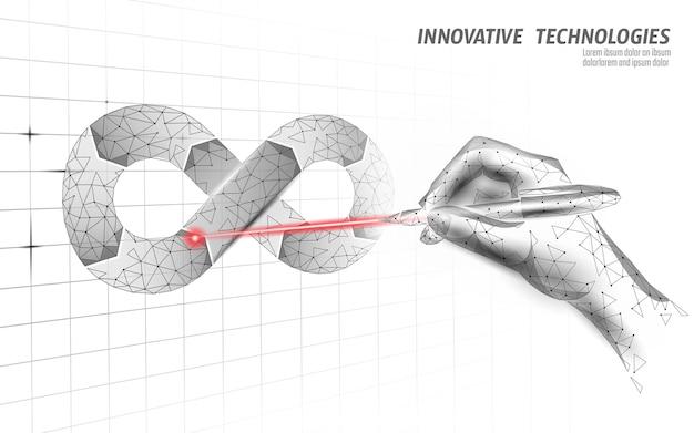 Devops softwareontwikkelingsoperaties oneindigheidsteken Premium Vector