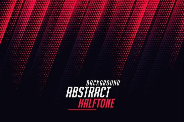 Diagonale abstracte halftone lijnen in rode en zwarte kleur Gratis Vector