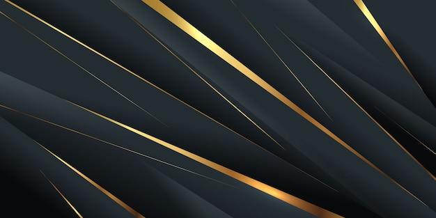 Diagonale laagvorm met gouden lijn Gratis Vector