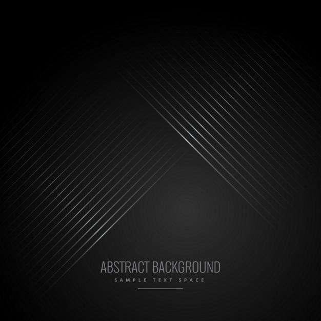 Diagonale lijnen in zwarte achtergrond Gratis Vector