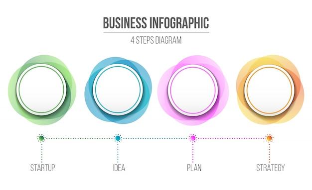 Diagram infographic informatie Premium Vector