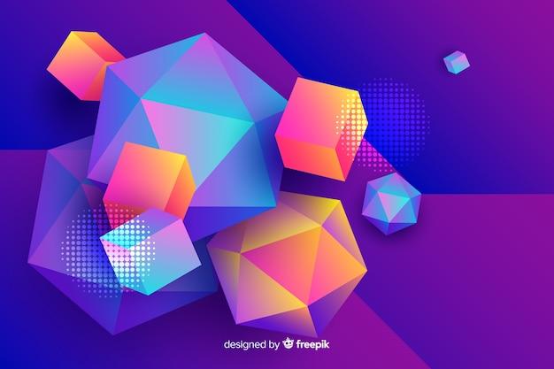 Diamant en vierkante vormenachtergrond Gratis Vector