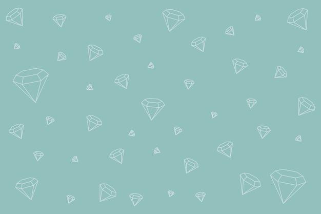 Diamant gevormde achtergrond Gratis Vector