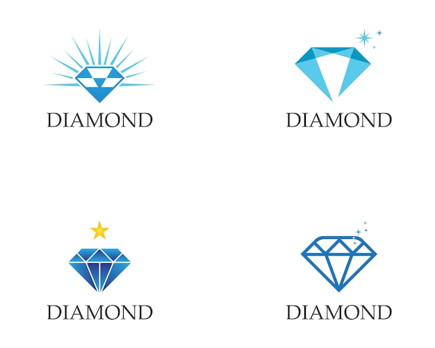 Diamant logo sjabloon Premium Vector