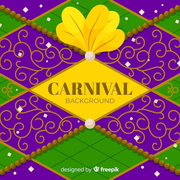 Diamond carnaval achtergrond Gratis Vector