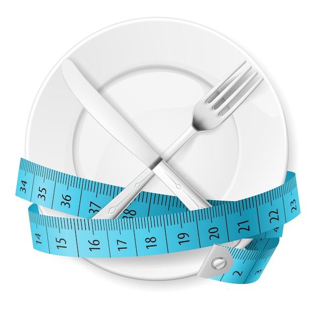 Dieet concept Premium Vector