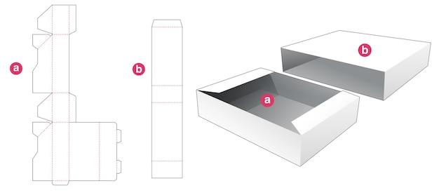 Dienblad met omslag gestanst sjabloon Premium Vector