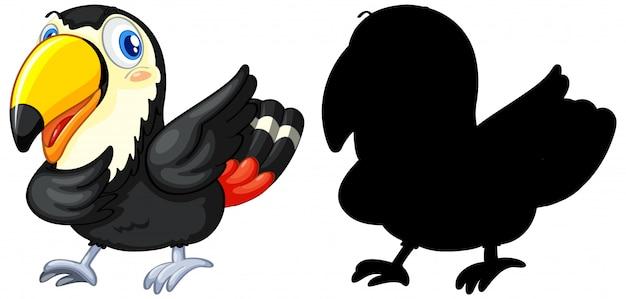 Dier met zijn silhouet Gratis Vector