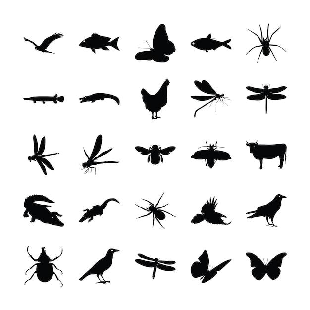 Dieren pictogrammen collectie Premium Vector