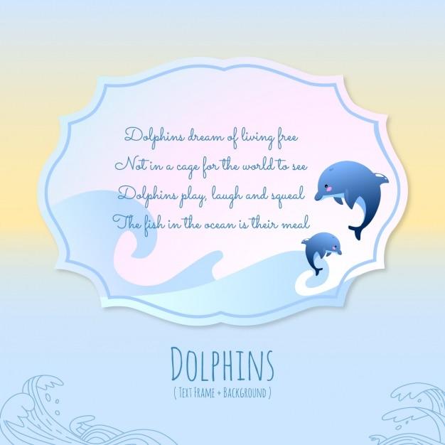 Dierenverhalen, dolfijnen Gratis Vector