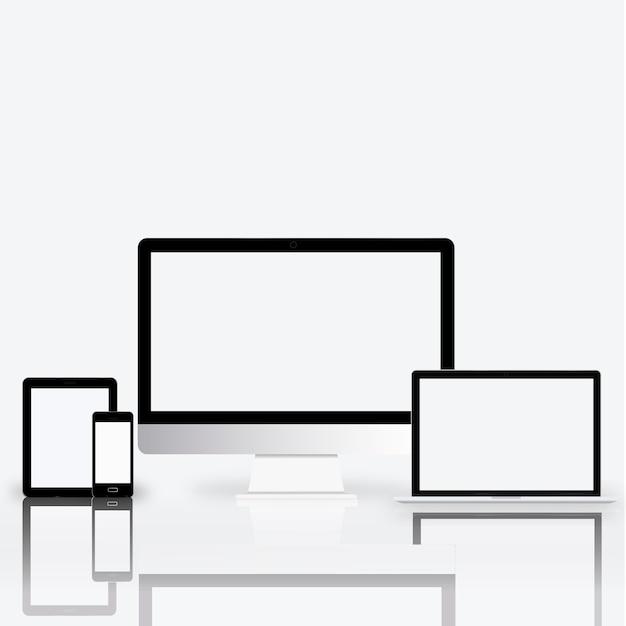 Digitaal communicatie van de apparaten elektronisch technologie concept Gratis Vector