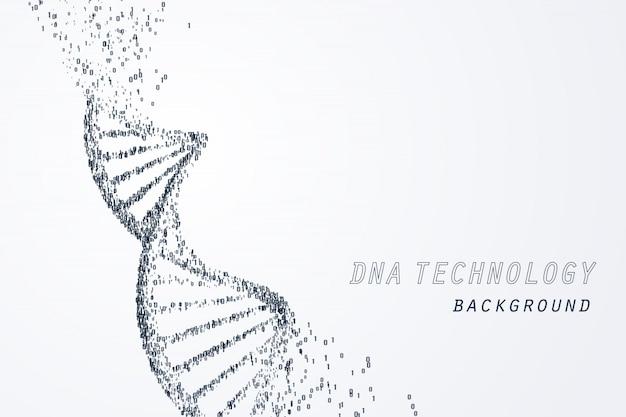 Digitaal van virtueel dna, technologie en medisch concept Premium Vector