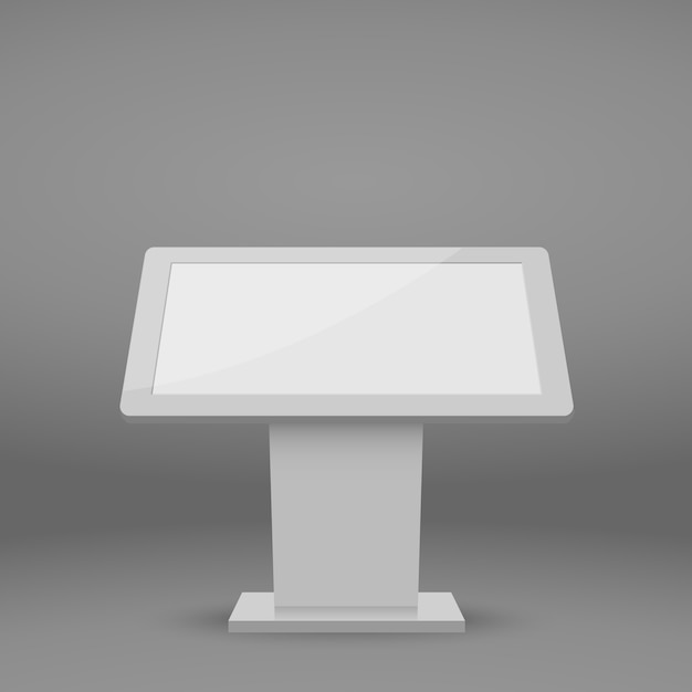 Digital multimedia-standsjabloon. Premium Vector