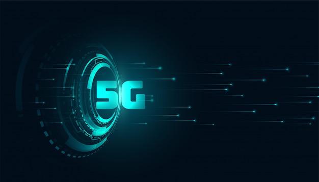 Digitale 5g vijfde generatitechnology achtergrond Gratis Vector