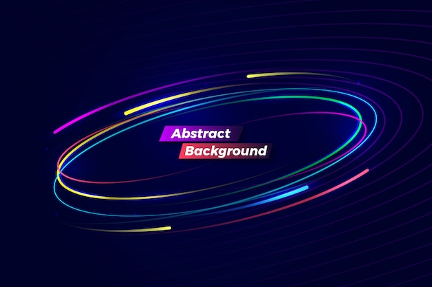 Digitale abstracte kleurrijke motieachtergrond Premium Vector