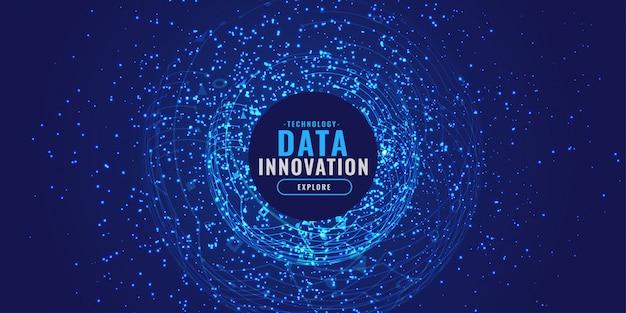 Digitale achtergrond met deeltjes burst technologie concept Gratis Vector