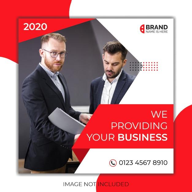 Digitale bedrijfsmarketing sociale media na banner & vierkante flyer Premium Vector