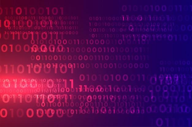 Digitale binaire code algoritme stroom matrix achtergrond Gratis Vector