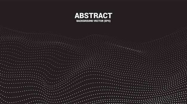 Digitale contourcurve punt en lijn rimpel en golf met draadframe. abstracte achtergrond voor futuristische technologie concept Premium Vector