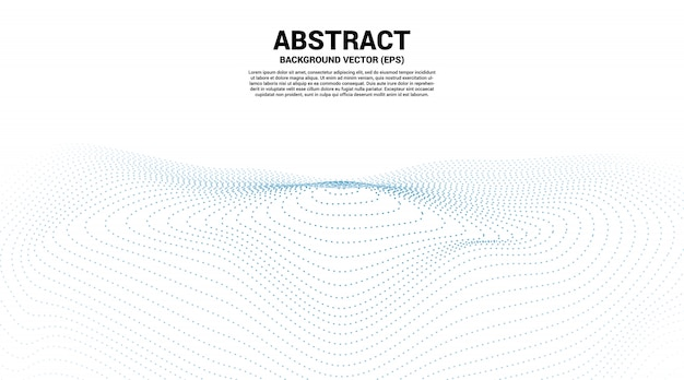 Digitale contourcurve, punt- en lijnrimpeling en golf met draadframe. abstracte achtergrond voor futuristisch technologieconcept Premium Vector