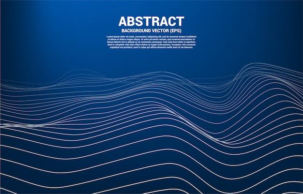 Digitale contourcurve stip en lijn en golf met draadframe. abstracte achtergrond voor 3d-futuristische technologie Premium Vector