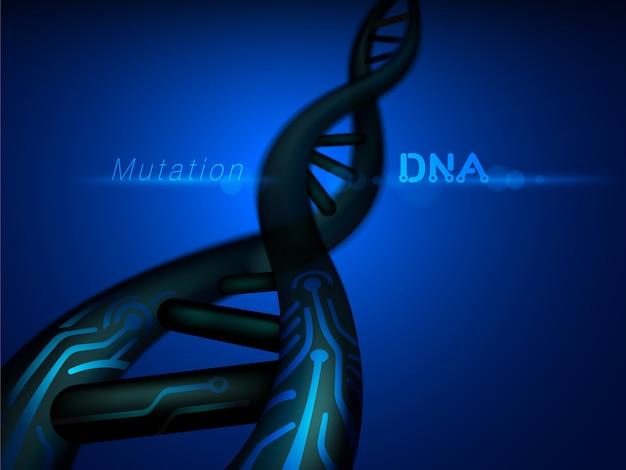 Digitale dna-mutatiestructuur Premium Vector