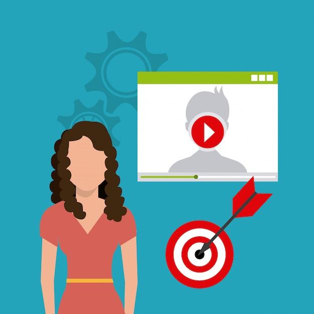 Digitale en sociale marketing Gratis Vector