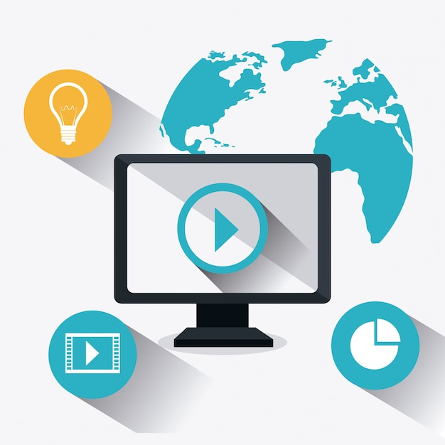 Digitale en sociale marketingstrategieën Premium Vector