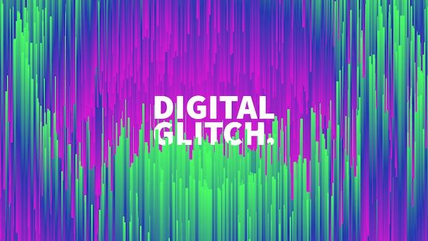 Digitale glitch effect vector abstracte achtergrond Premium Vector